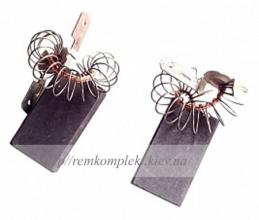 Щетки электродвигателя угольные шнур по центрe с пружинкой 5х15х27