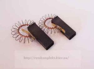 Щетки электродвигателя угольные с пружиной 6х12,5х31