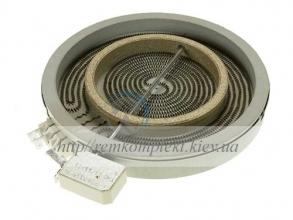 Конфорка для стекло-керамической поверхности Whirlpool 180/120 мм 480121101742